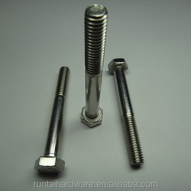 Customized size type 316 half thread set screw