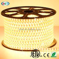5050 smd led light strip 60 leds/m 3000K warm white flexible strip AC220V 50m IP67 waterproof led rope light