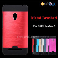 Fashion heat dissipation brushed aluminum metal shockproof rugged case for asus zenfone 5