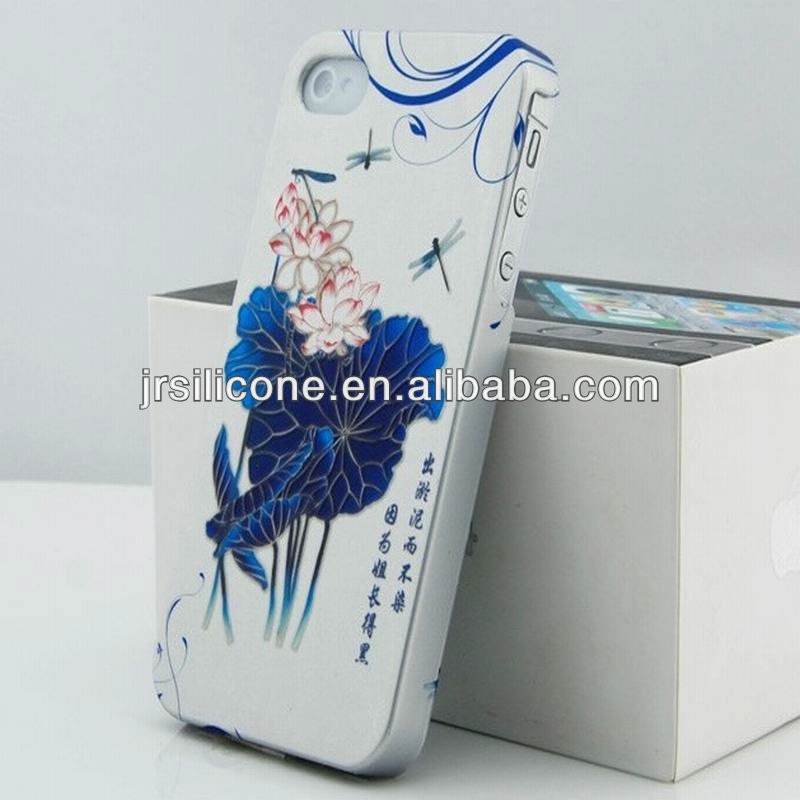Chinese style hard plastic case for iPhone 4/4s/5