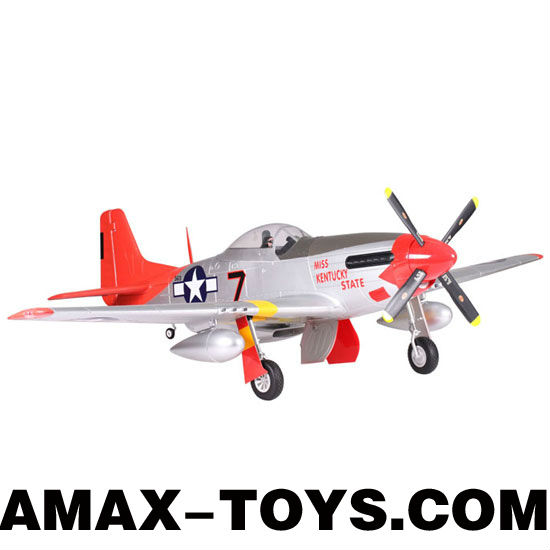 ep-129041 rc p51 mustang Six Channels Four Blade Propellers Extra Large Brushless EPO Remote Control Airplane