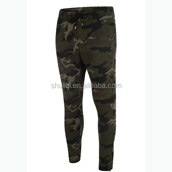 Men Army Camo Track Pants Men Camouflage 100%Cotton Fabric Trousers