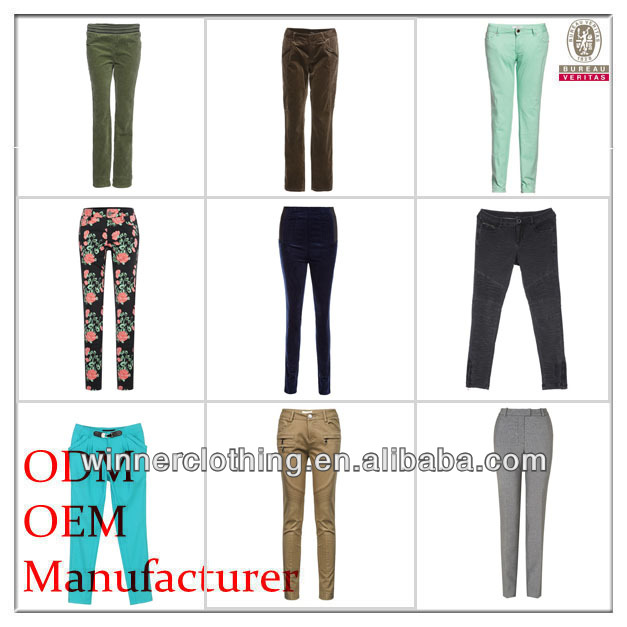 Hot Sale Trendy Cute Factory Price cheap ladies' different kinds of 2014 new style women's pants
