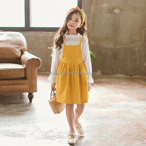 2018 Girls' Slip Dress Set 2pcs Dress Set