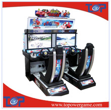 two player Outrun super speed car racing game machine