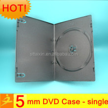 5mm black single/double plastic tin cd dvd case
