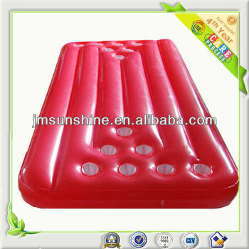 red water table with 14 cup holders