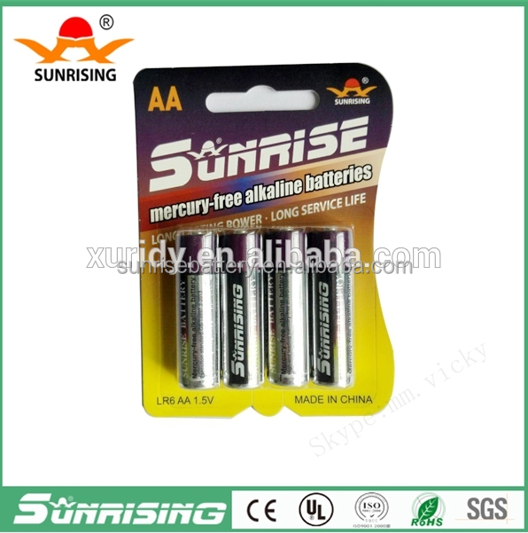 Sunrise battery AA 1.5v battery 1.5V Nominal Voltage nicd/nizn/nimh rechargeable battery for AA 2000MAH battery form