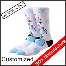 Bulk wholesale custom premium combed cotton socks women