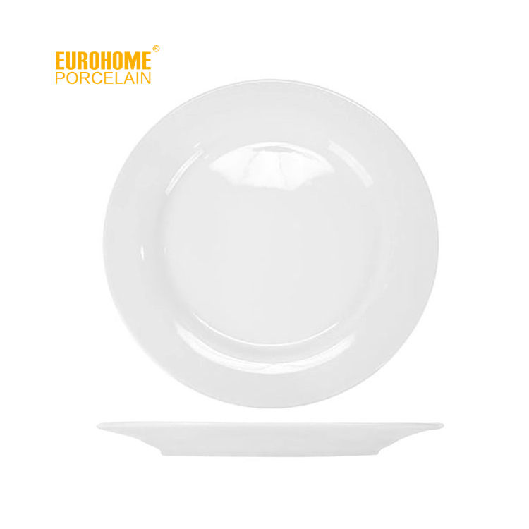 round design hall event restaurant wedding white cheap dinner <strong>plate</strong>