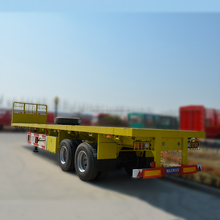 40 Feet Flat deck Semi Trailer Container Use Tri Axles Flatbed Trailer