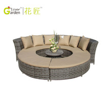 On Sale modular wicker outdoor sofa lounge setting outdoor garden furniture rattan heart daybed