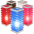 acrylic led tower table in custom color