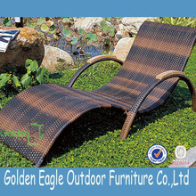 Chaise sun lounger/outdoor sunbed/aluminum rattan bench chair
