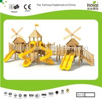 Updated KAIQI Wooden Series wooden playground/wooden castle/play house for kids wood