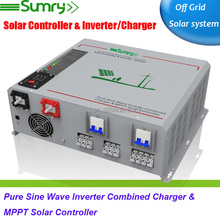 CE approved pure sine wave power inverter 12v 220v 5000w with MPPT charge controller