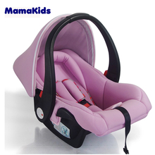 group 0 red color child car booster seat portable baby car seat
