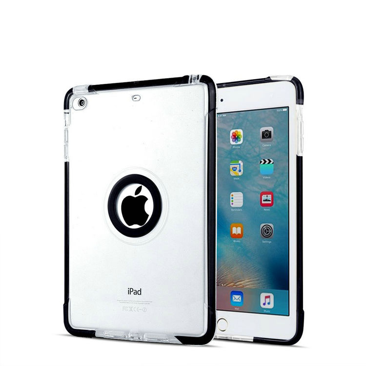 TPU and PC hard Strong Combo back shell Contrast color With stand 3in1 Shockproof Case for ipad air 2 3 pro 9.7
