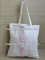 2015 Cheap Cream/Ecru Cotton ,plain white cotton tote bag,cheap plain tote canvas bags/Cloth Shopping Bags