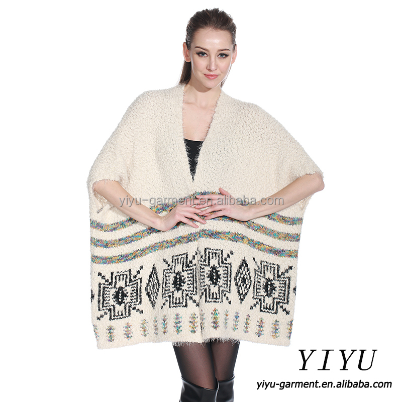 Knitting Eastern European Style : European style ladies cardigan handmade knitting poncho