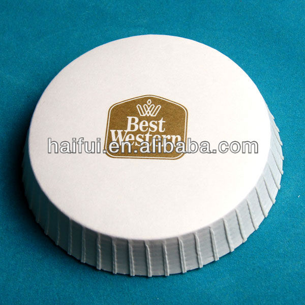 absorbent paper glass cover&coaster in hotel amenities