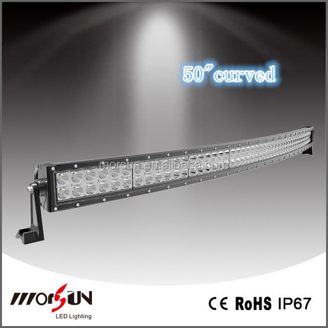 Curved LED Light Bar 50 Inch CR EE 288 Watt,Auto LED Light Arch Bent for Truck,Off Road, 4x4,Tractor,Marine,Combo Beam