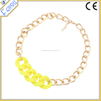 Factory Price Simple Chunky Chain Two Tone Necklace