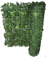 hot selling garden fence artificial plastic leaf fence artificial hedge