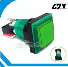 32*32 mm Illuminated square push button SP000.001.424 green