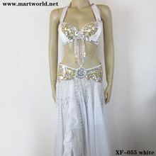 white bellydance costumes professional (XF-055 white)