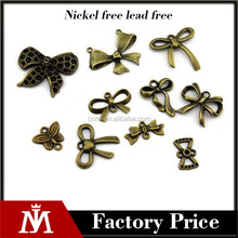 Antique bronze Charms Pendants Jewelry Findings Bow