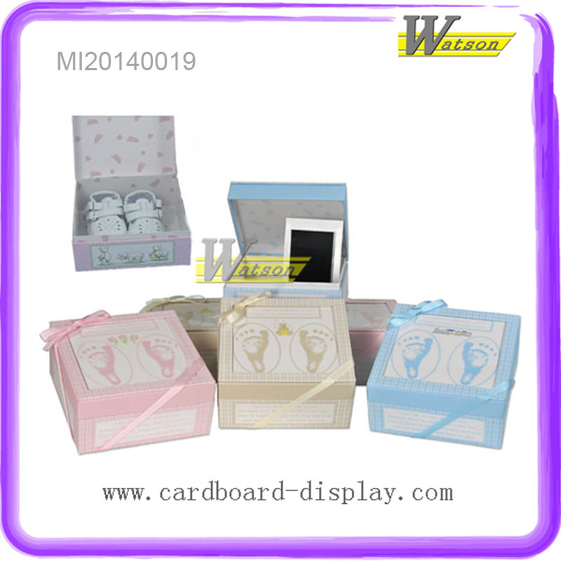 Eco-friendly Custom Printed Gift Box for Baby shoes