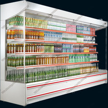 New Style Supermarket Vertical Multi Deck Open Door Top Display Cooler