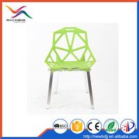 modern plastic chair with aluminum legs at compeitive price