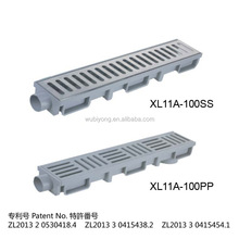 PLASTIC DRAIN CHANNEL, STAINLESS DRAIN CHANNEL, CONNECTING CHANNEL