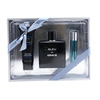 Black Bottle Men Perfume Set OEM Fragrance, 100ml+80ml+10ml
