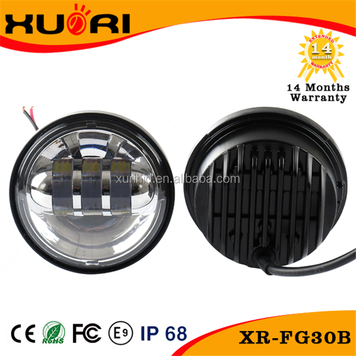 new 4.5'' 30w motorcycle Round high low beam led fog light for harley-davidson,passing lamp led fog light for motorcycle Harley