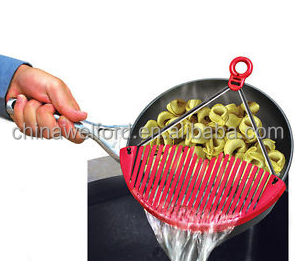 slicone handle pot strainer