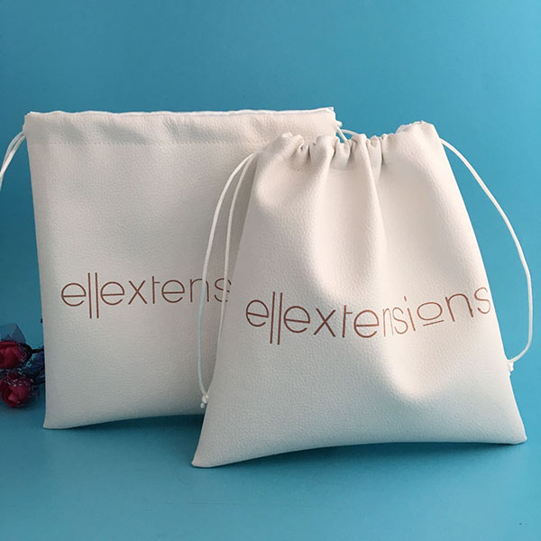 new products drawstring leather dustbag with satin lining