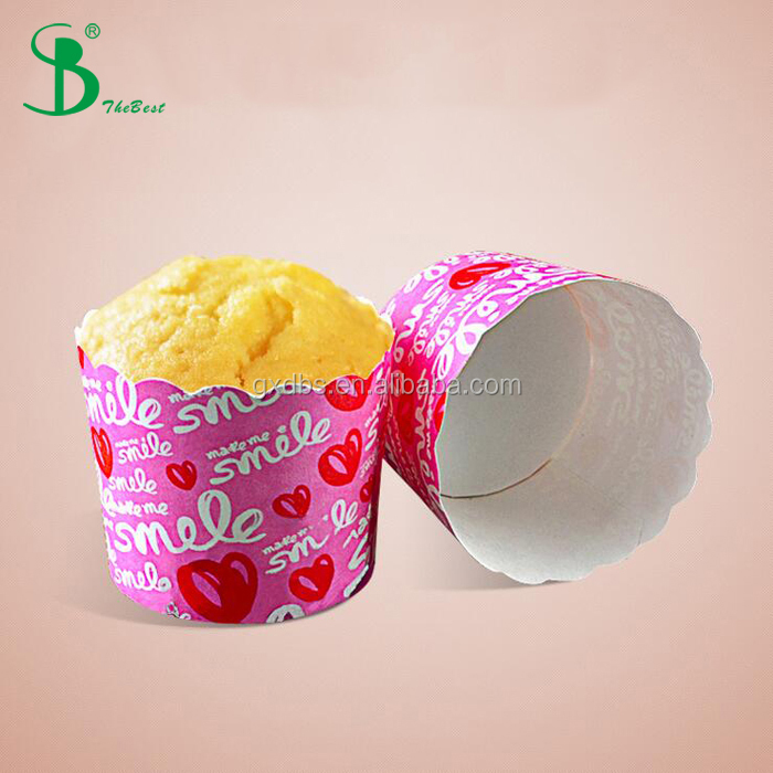 company logo printed disposable paper baking cup with many different sizes
