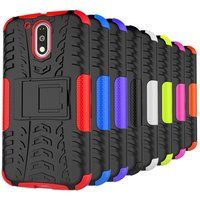 New Hybrid Shockproof Rugged Rubber Hard Case Armor Case Cover For MOTO G4 Plus