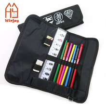High quality Brand Office and school stationery gift set in 600D Fabric Pencil case