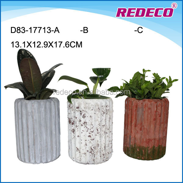 Unique indoor concrete plant pots for sale
