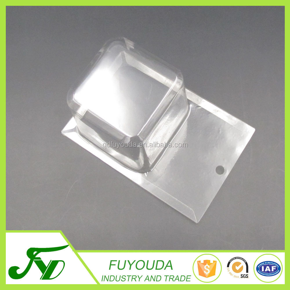 China produce low price Display disposable clear plastic blister packing folding box