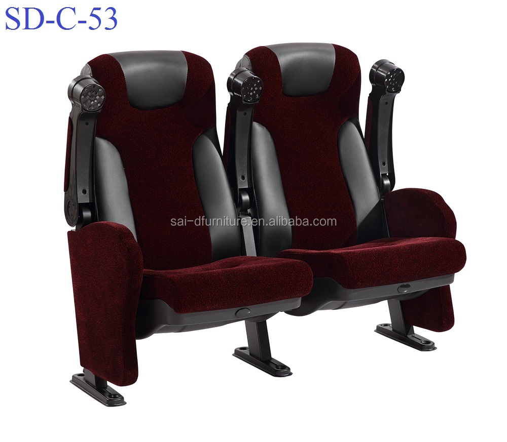 No.SD-C-53Used Commercial Folding Movie Theater Cinema Seat Wholesale