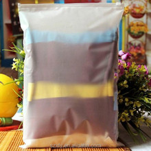 Frosted EVA plastic zipper bag with silk screen printing Logo for cosmetic