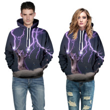 women/men's hoodies lightning cat funny printed sweatshirt couple 3D sweatershirts