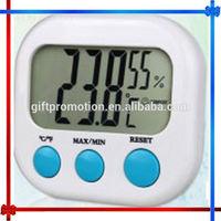 H0T19 digital lcd temperature and humidity meter clock