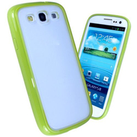 silicone bumper matte back phone case cover for galaxy S3 III I9300 Laudtec