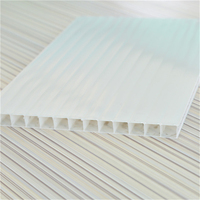 4mm/6mm/8mm greenhouse lexan twin-wall plasitc polycarbonate hollow sheet